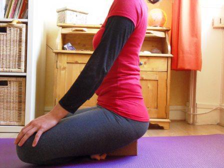 une bonne assise en yoga