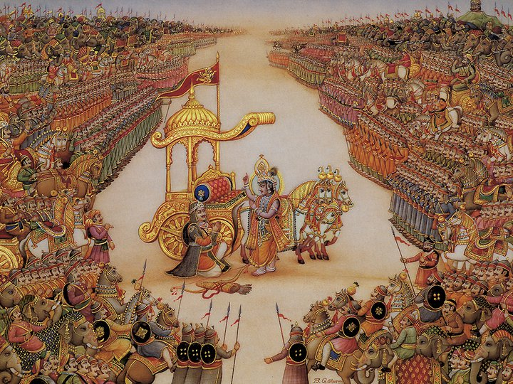 Mahabharata Arjuna Krishna